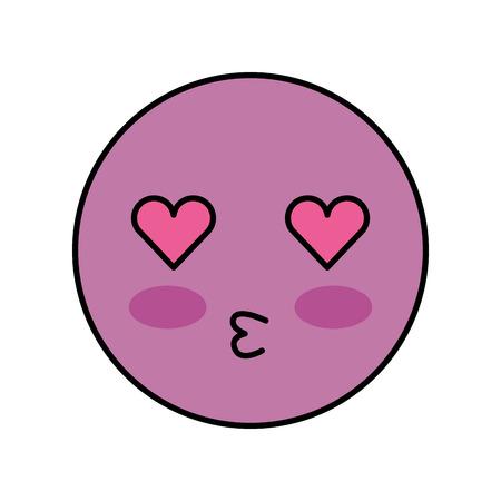 cartoon emoji kissing love smile icon vector illustration Reklamní fotografie - 86490081