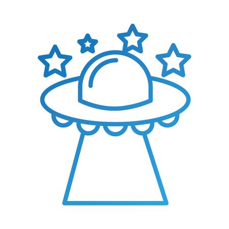 ufo 비행 접시 기술 과학 전송 벡터 일러스트 레이션 일러스트