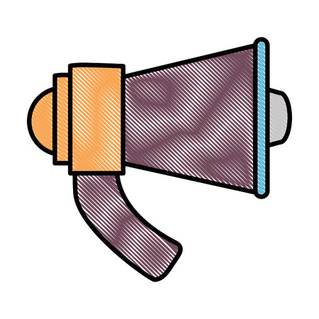 megaphone audio isolated icon vector illustration design Stock Vector - 86490109