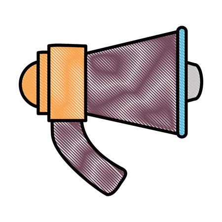 megaphone audio isolated icon vector illustration design