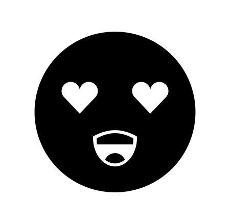 cartoon emoji happy love smile icon vector illustration