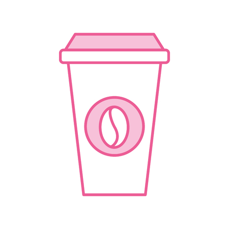 paper coffee cup disposable takeaway beverage vector illustration Illusztráció