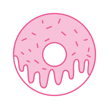 sweet donut dessert bakery food vector illustration Ilustrace