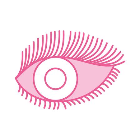 눈 모양 속눈썹 비전 만화 벡터 일러스트 레이션 스톡 콘텐츠 - 86490191