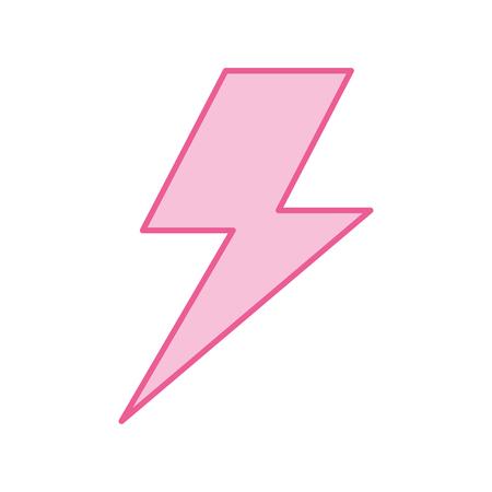 번개 폭풍 에너지 벡터 일러스트 레이션 일러스트