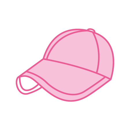 sport cap pink accessory fashion vector illustration