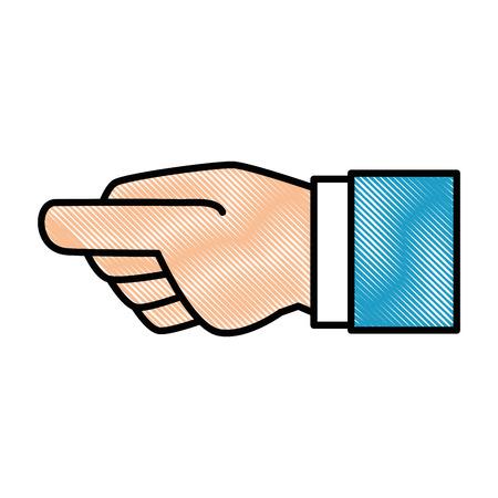 Menselijke hand vangen pictogram vector illustratie ontwerp Stockfoto - 86490204