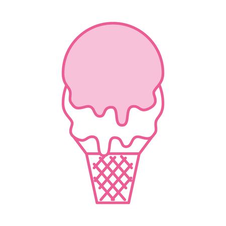 달콤한 아이스크림 차가운 맛 신선한 맛있는 벡터 일러스트 레이션
