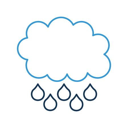 cartoon cloud drops rain weather vector illustration Banco de Imagens - 86490247