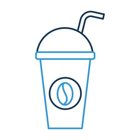 紙コーヒー カップ使い捨てテイクアウト飲料ベクトル図
