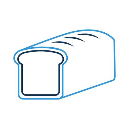 cartoon food bread wheat grain cereal vector illustration