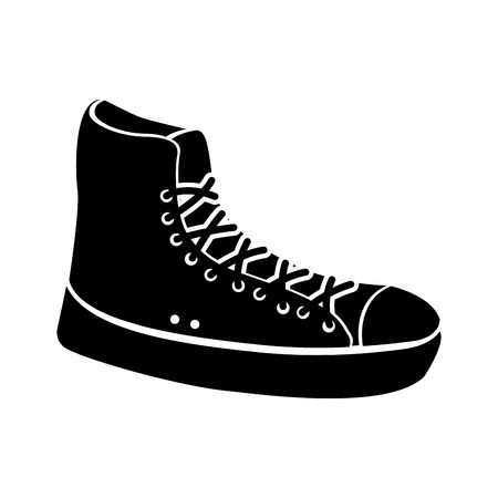 sneaker sport fashion trendy cartoon vector illustration