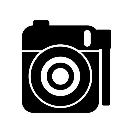 cute photo camera gallery accessory equipment vector illustration Imagens - 86490268