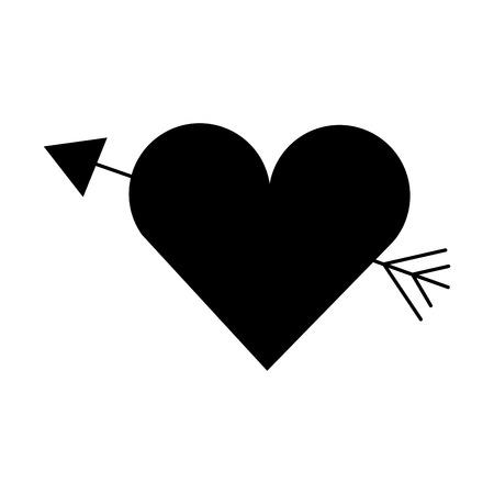 Amor corazón de la pluma de hadas ilustración vectorial de pasión Foto de archivo - 86490285