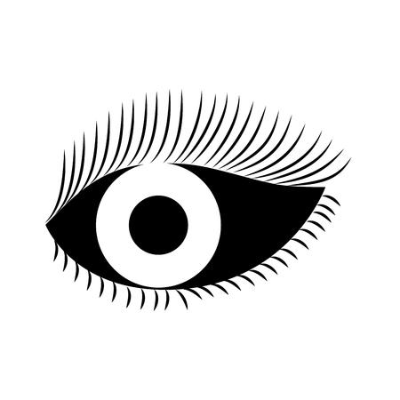 Oog kijken wimpers visie cartoon vector illustratie Stockfoto - 86490297
