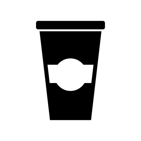 paper coffee cup disposable takeaway beverage vector illustration Ilustrace