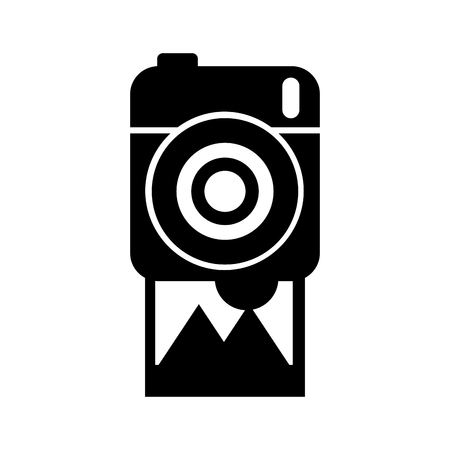 fotografische camera foto galerij album vector illustratie