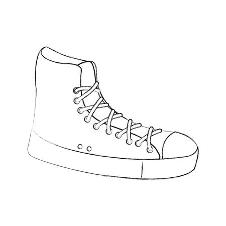 sneaker sport fashion trendy casual vector illustration Ilustrace