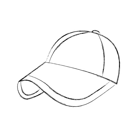 sport cap accessory fashion cloth protection vector illustration
