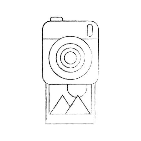 photographic camera picture gallery album vector illustration