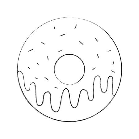 甘いドーナツ デザート ベーカリー食品ベクトル図 写真素材 - 86490358