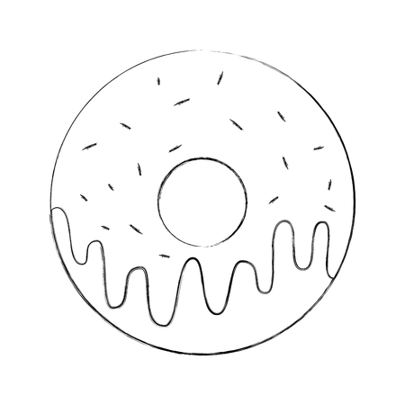 sweet donut dessert bakery food vector illustration Illustration