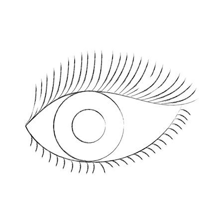 눈 모양 속눈썹 비전 만화 벡터 일러스트 레이션 일러스트