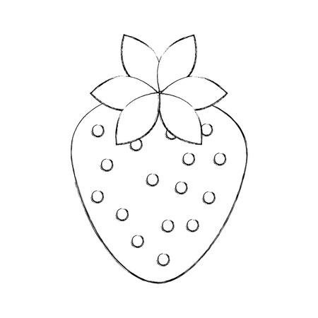 Ilustración de vector de fresa orgánica fruta de fresa plana Foto de archivo - 86490375