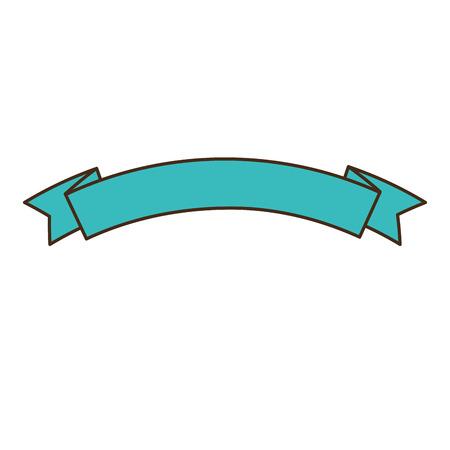 リボン フレーム分離アイコン ベクトル イラスト デザイン