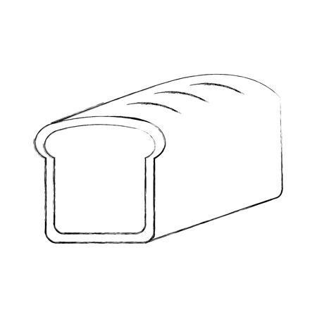 Cartoon pain de blé pain céréales céréales illustration vectorielle Banque d'images - 86490398
