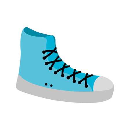 sneaker sport fashion trendy casual vector illustration Ilustracja