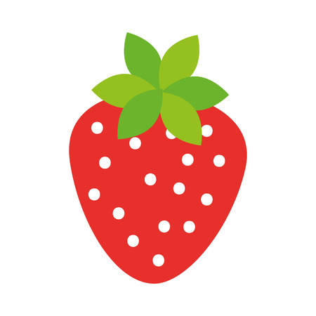 おいしいイチゴ果実収穫の有機のベクトル図