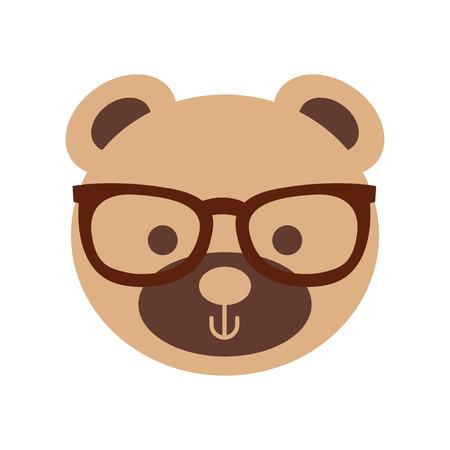 サングラス テディ顔グッズ プレゼントとかわいいクマ ベクトル イラスト  イラスト・ベクター素材