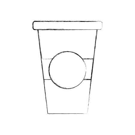 paper coffee cup disposable takeaway beverage vector illustration Ilustração