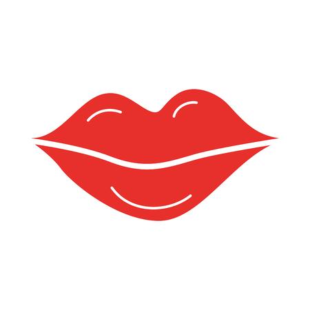 lips of woman makeup lipstick cartoon vector illustration