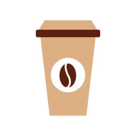 paper coffee cup disposable takeaway beverage vector illustration 向量圖像