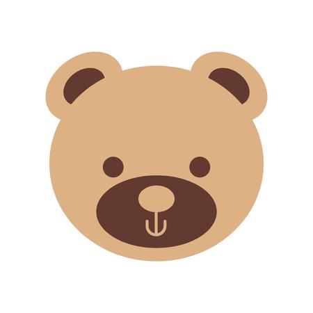 귀여운 곰 테디 얼굴 장난감 선물 벡터 일러스트 레이션
