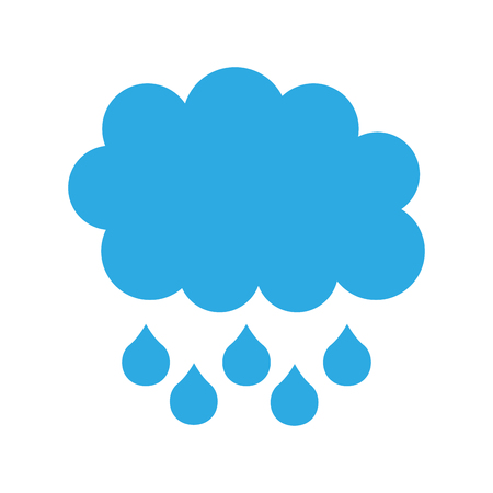 cartoon cloud drops rain weather vector illustration