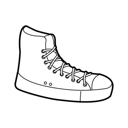 sneaker sport fashion trendy casual vector illustration Ilustração