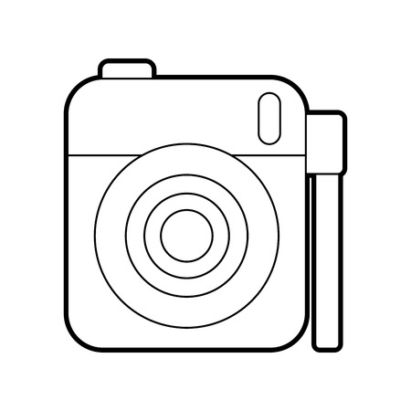 cute photo camera gallery accessory vector illustration Ilustração