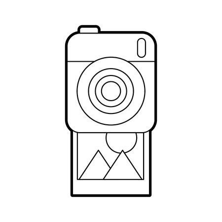 photographic camera picture gallery album vector illustration Reklamní fotografie - 86490558
