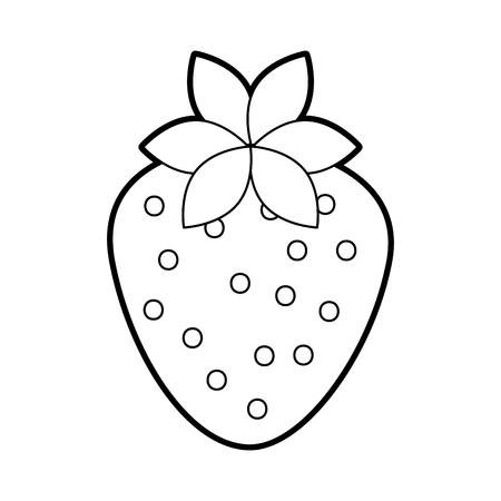 Ilustración de vector de fresa orgánica fruta de fresa plana Foto de archivo - 86490576