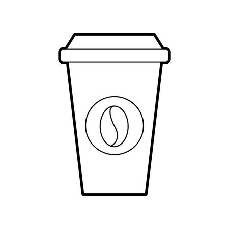 종이 커피 한잔 일회용 테이크 아웃 음료 벡터 일러스트 레이션 일러스트