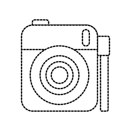 cute photo camera gallery accessory vector illustration Çizim