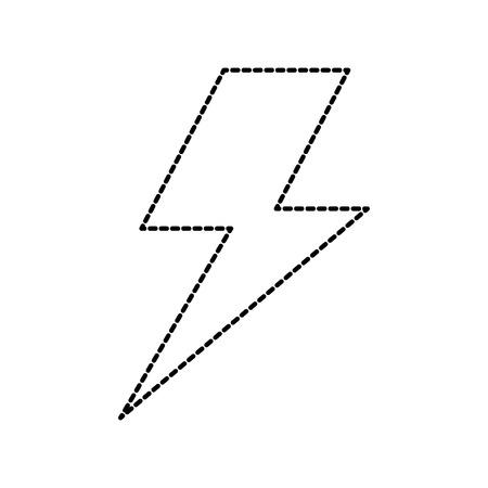 lightning bolt weather storm energy vector illustration Illustration