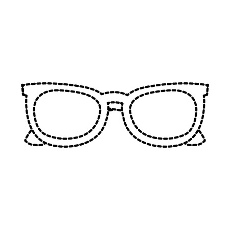 sunglasses frame fashion trendy accessory vector illustration