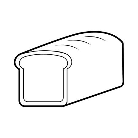 cartoon food bread wheat grain cereal vector illustration Stok Fotoğraf - 86490600