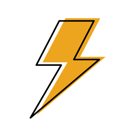 lightning bolt weather storm energy vector illustration Ilustração