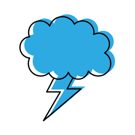 weather cloud lightning bolt climate storm vector illustration Stock Vector - 86490609