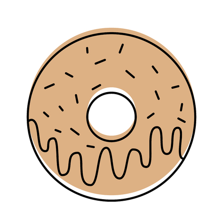 sweet donut dessert bakery food vector illustration Иллюстрация